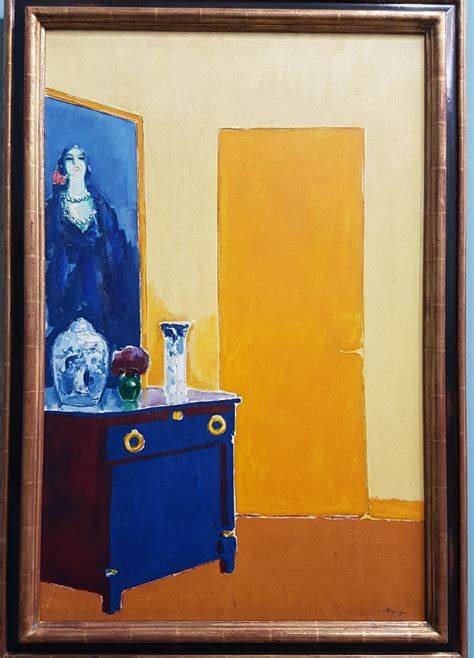 Interieur met gele deur Kees van Dongen