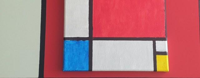 Compositie II rood blauw en geel