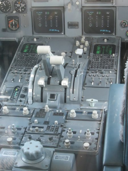 vliegtuig Fokker 100 - Panoramaterras Schiphol