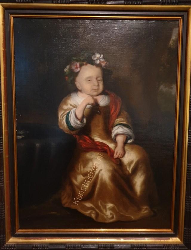 Portret van een overleden kind- Nicolaes Maes