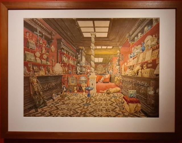 De Galerij van oudheden in het huis van Alexandr Bazilevski aan de Rue Blache in Parijs