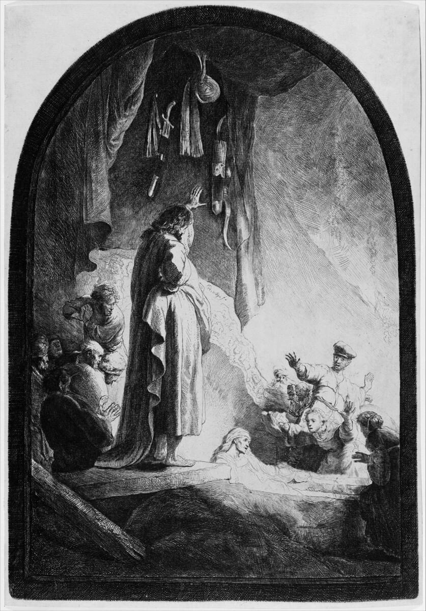 De opwekking van Lazarus - Rembrandt
