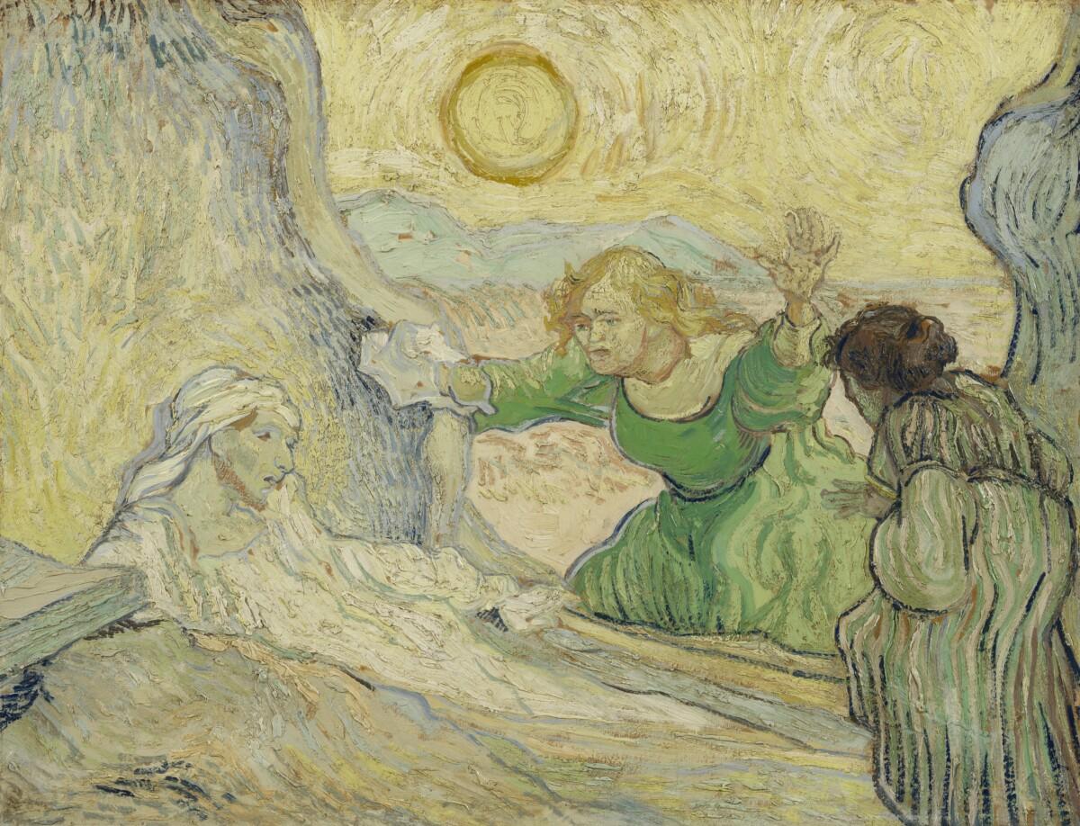 De opwekking van Lazarus(naar_Rembrandt)- Van Gogh