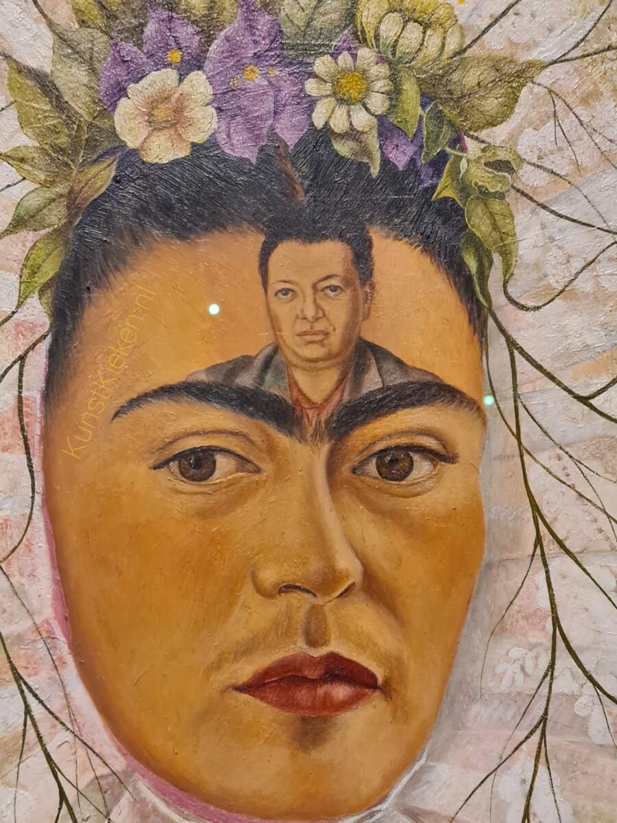 Detail Diego in mijn gedachten - 1943 - Frida Kahlo