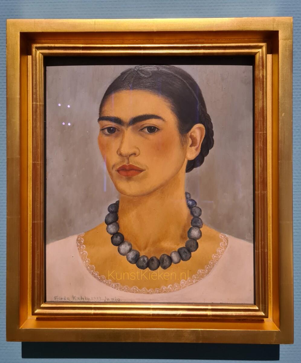 Zelfportret met halsketting - 1933- Frida Kahlo