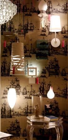Wand weiße Leuchten