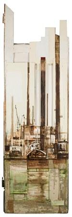 4. Scorcio portegno del Sud; 60x203; Mixed technique on wood and paper