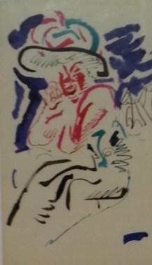 Bernhard Heisig Orginal Zeichnung Tusche, Aquarell