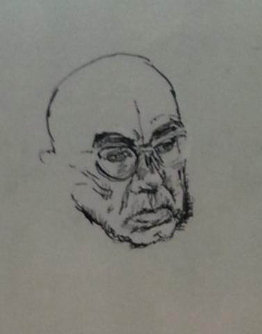 Bernhard Heisig Orginal Zeichnung Tusche Potrait