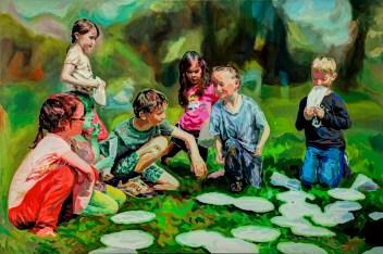 """Tellermemory"" 2014 Acryl,120 x 80 cm"