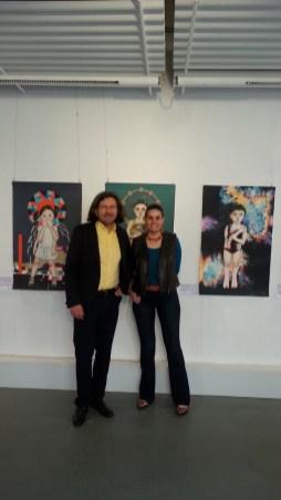 Lisa Torske und Galerist Jürgen Leibig
