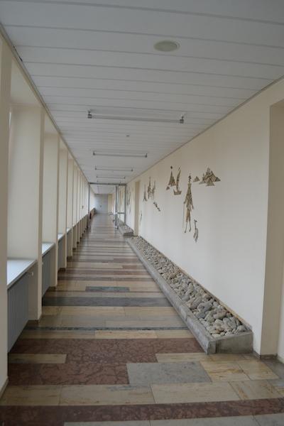 """Plärrer-Hochhaus Nürnberg, Trakt der """"dornigen Beamtenlaufbahn"""" © Alexander Racz, Kunstnürnberg"""