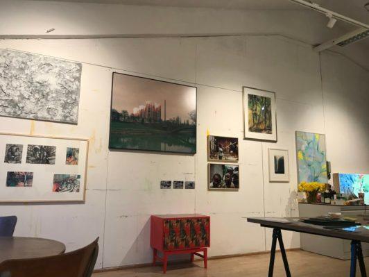 Werk tijdens de eerste Kunstruilmiddag op 31 maart