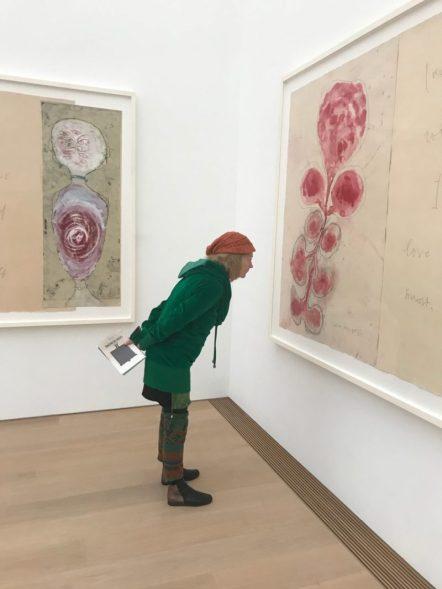 Arlette bekijkt: Louise Bourgeois, Deel van 'I Give Everything Away. Ets en gemengde techniek op papier, 2010
