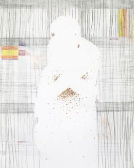 Steaned light. Potlood op papier, 30x40cm. Liesje van den Berk