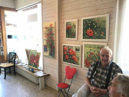 Werk van Vivi Pettersson, in Galleri Olika, Dals Långed, Zweden