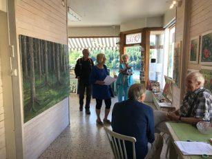 Vivi Pettersson in Galleri Olika, Dals Långed, Zweden