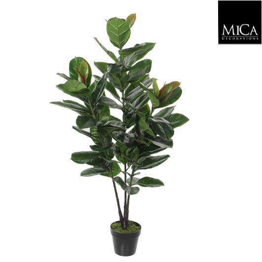 Mica Kunstplant Ficus Elastica (h120xd50cm) - Kunstplantshop.nl