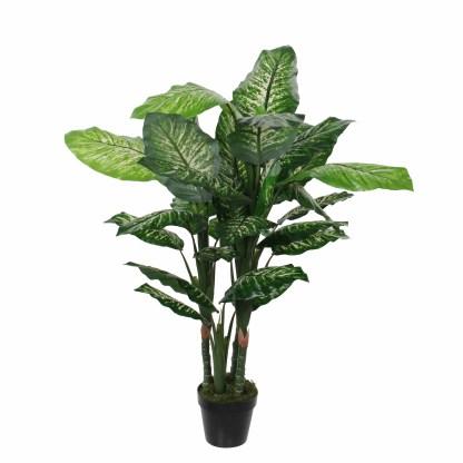 Mica Kunstplant Dieffenbachia (h120xd60cm) - Kunstplantshop.nl