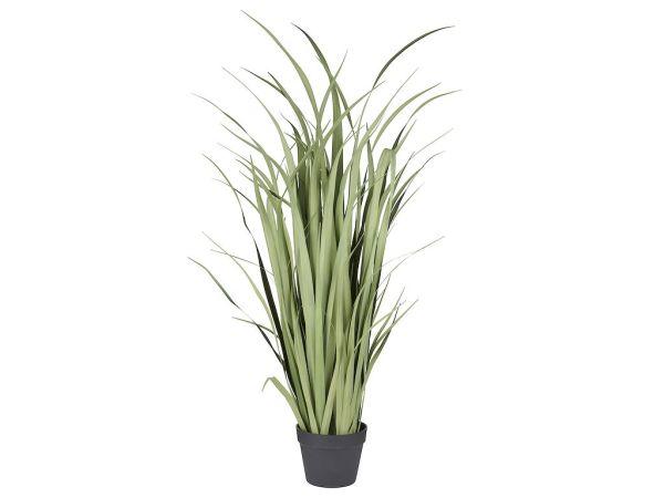 HTT Decorations - Kunstplant Siergras breedbladig groen (120x60 cm) - Kunstplantshop.nl