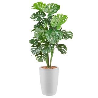 Groene kunstplanten met sierpot