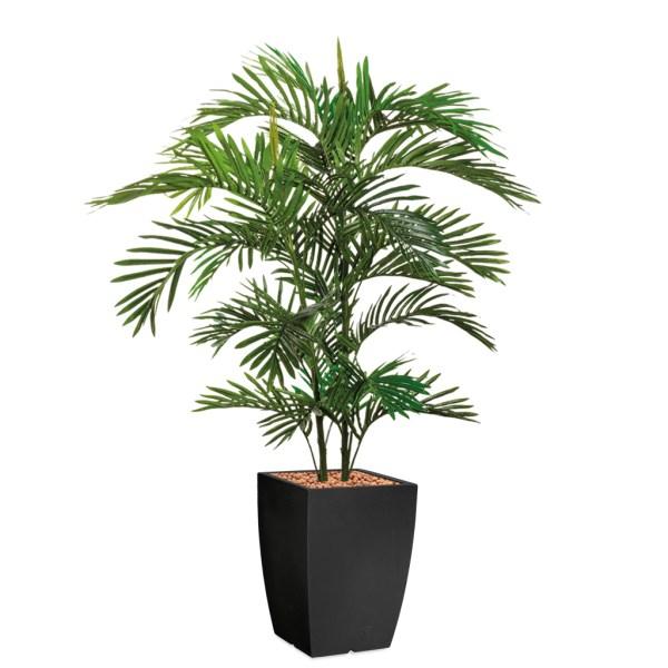 HTT - Kunstplant Areca palm in Genesis vierkant antraciet H150 cm - kunstplantshop.nl