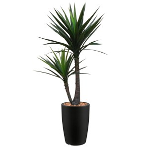 HTT - Kunstplant Yucca in Genesis rond antraciet H150 cm - kunstplantshop.nl