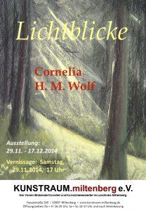 Plakat für Ausstellung Cornelia WOLF 2014