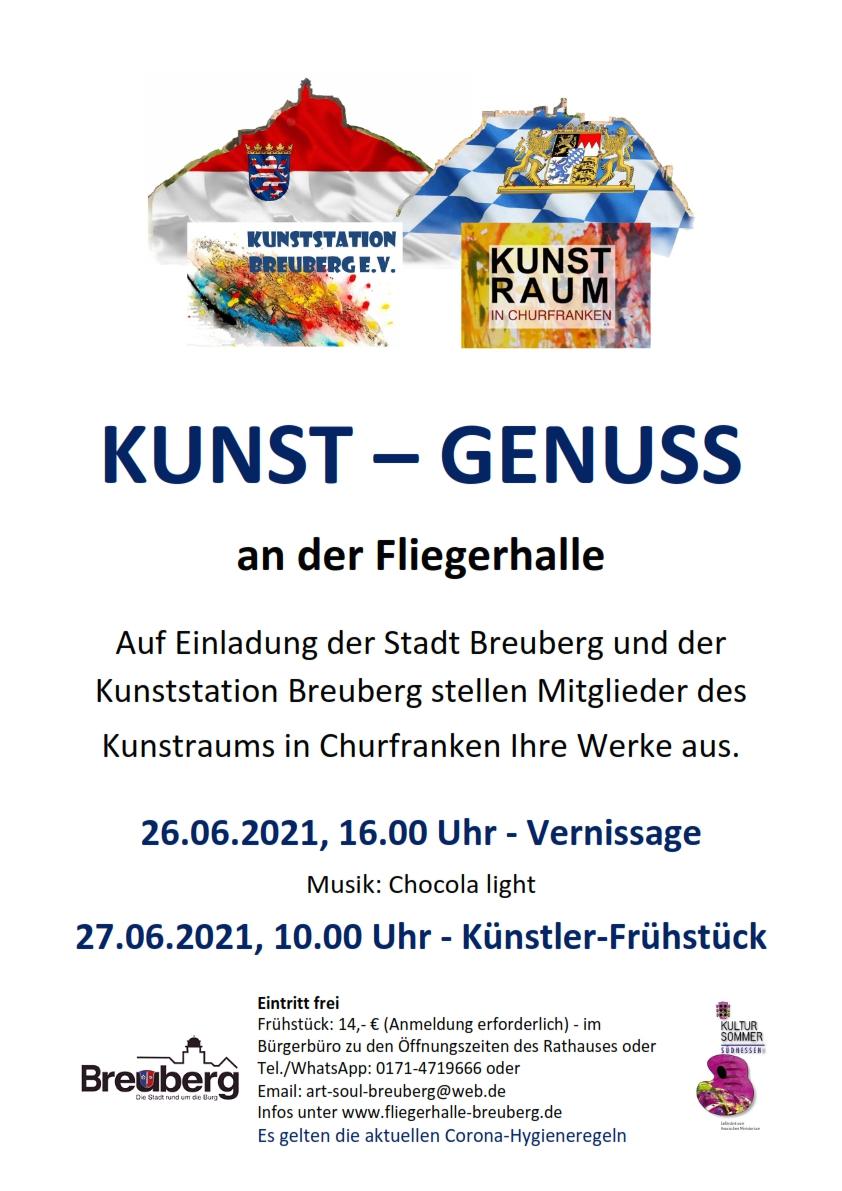 Ausstellung von Vereinsmitgliedern in der neu renovierten Fliegerhalle, Breuberg