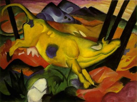 Franz Marc - Die gelbe Kuh, 1911 [Public domain], via Wikimedia Commons