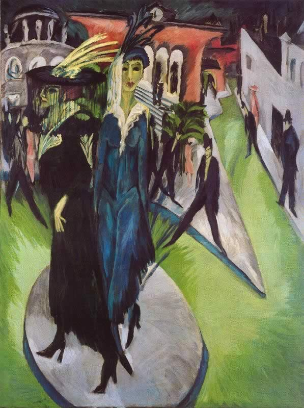 Ernst Ludwig Kirchner - Potsdamer Platz [Public domain], via Wikimedia Commons, 1914, oil on canvas, 200 x 150 cm