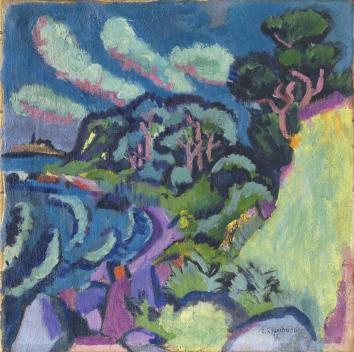 Ernst Ludwig Kirchner Mexikobucht auf Fehmarn, 1912 Öl auf Leinwand, 50,5 × 50,5 cm Privatsammlung Deutschland
