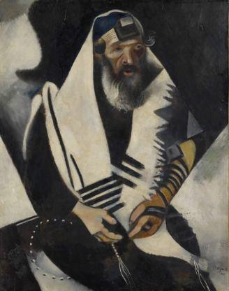 Der Jude in Schwarz-Weiss (Le juif en noir et blanc), 1914 Öl auf Karton, auf Leinwand aufgezogen, 101 x 80 cm © Stiftung Im Obersteg, Depositum im Kunstmuseum Basel 2004 / ProLitteris, Zürich