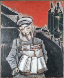 Marc Chagall - Der Zeitungsverkäufer_900