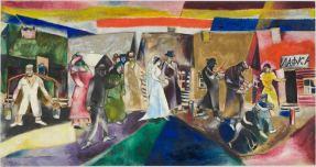 Marc Chagall - Die Hochzeit (La noce), 1911 Öl auf Leinen, 99.5 x 188.5 cm © Musée national d'art moderne, Centre Georges Pompidou, Paris / ProLitteris, Zürich