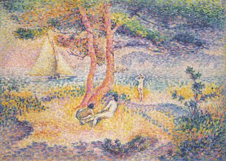 Henri-Edmond Cross, Der Strand von Saint-Clair, 1901, Privatsammlung
