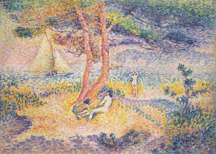 Henri-Edmond Cross, Der Strand von Saint-Clair, 1901, Privatsammlung