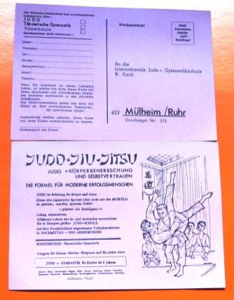 Werbepostkarte_Internationale_Judo-Gymnastikschule_W.Koch_Duisburgerstr.253_MH_Inhalt_Vergessene_Briefkaesten_MH_Ruhrstr.3_Scheunenfund_Foto_by_Ivo_Franz