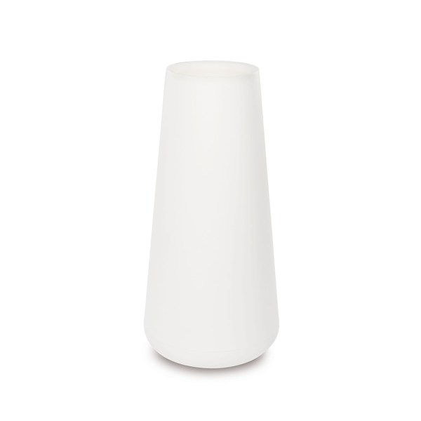 PLASTECNIC - Bloempot Vaso Lullaby Alto, H80 cm, wit - kunststofbloempot.nl