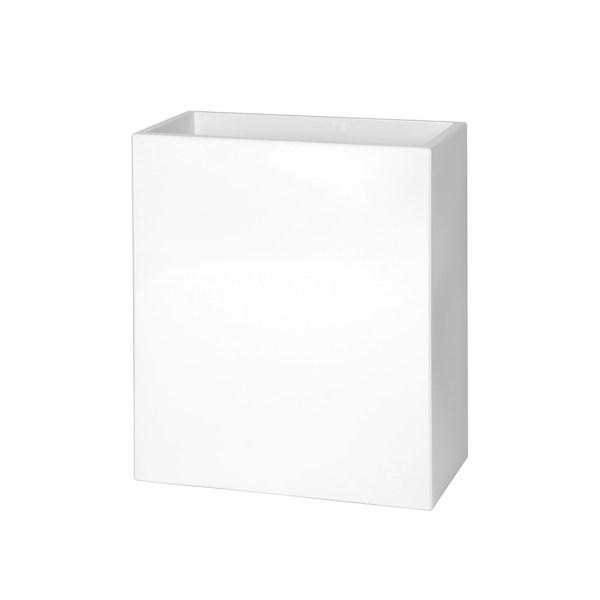 PLASTECNIC - Bloempot Cassetta Alta Modulo, H80 cm, wit - kunststofbloempot.nl