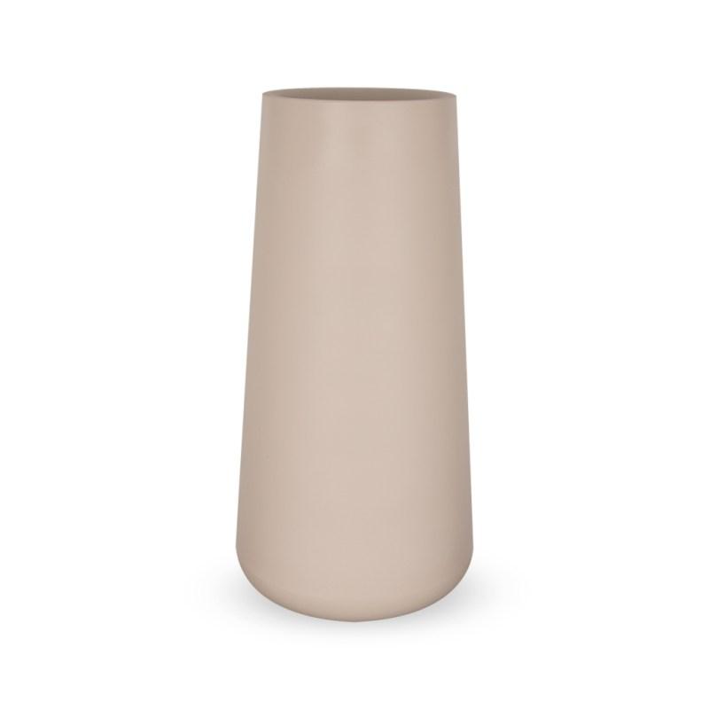 PLASTECNIC - Bloempot Vaso Lullaby Alto, H105 cm, taupe - kunststofbloempot.nl