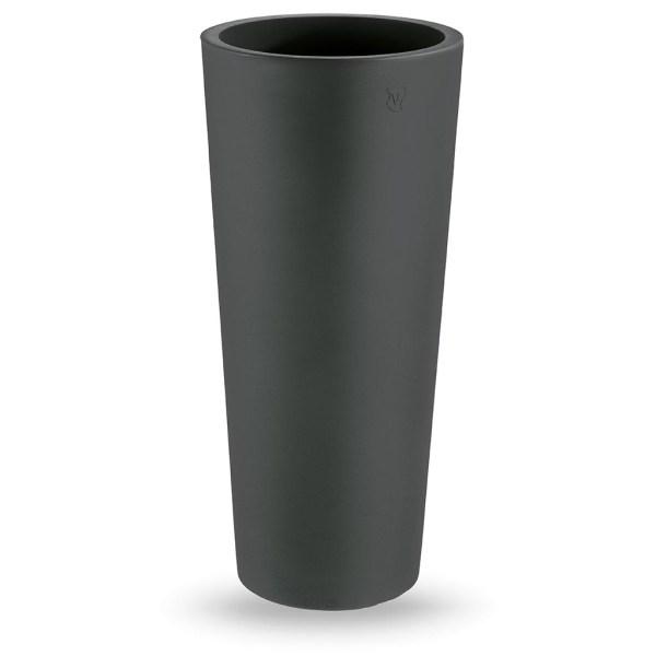 VECA - Bloempot Genesis, rond, H85 cm, antraciet - kunststofbloempot.nl