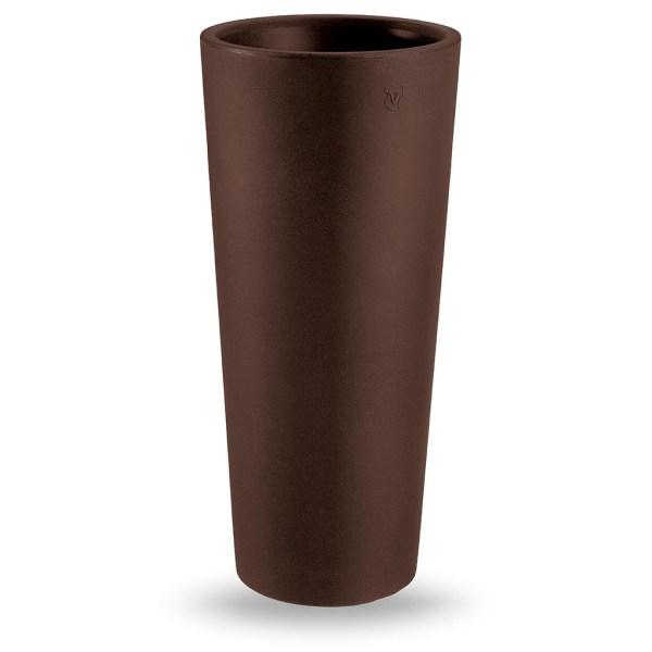 VECA - Bloempot Genesis, rond, 130 cm, bruin - kunststofbloempot.nl