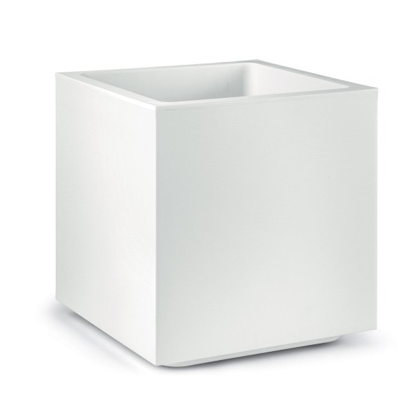 VECA - Bloempot Matheria, H40 cm, wit - kunststofbloempot.nl