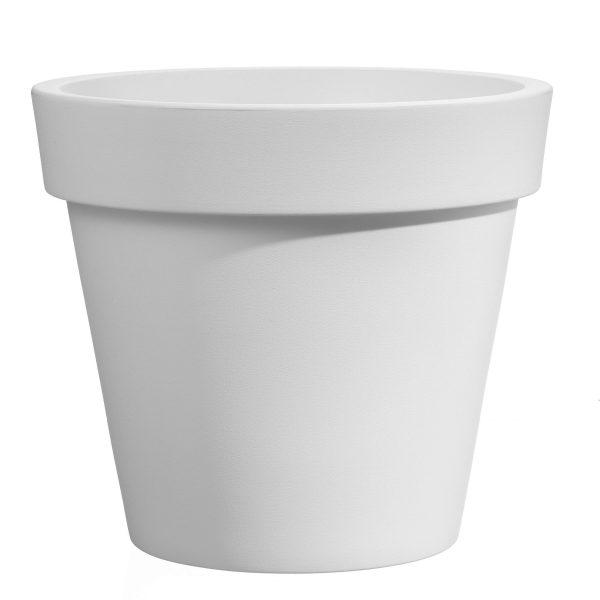 VECA - Bloempot Easy, rond Ø130 cm, H120 cm, wit - kunststofbloempot.nl