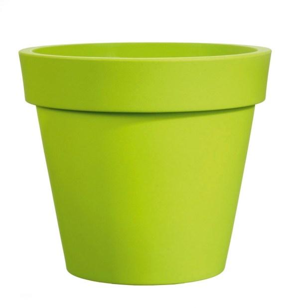 VECA - Bloempot Easy, rond Ø65 cm, H60 cm, groen - kunststofbloempot.nl