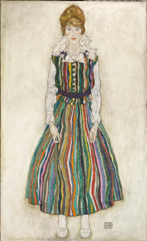 Portret van Edith - Egon Schiele, 1915 Olieverf op doek 180,2 x 110,1 cm Gemeentemuseum Den Haag