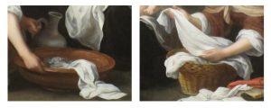 Esteban Murillo - de Geboorte van Johannes de Doper detail)