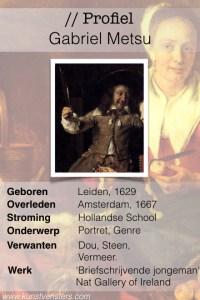 Profiel Gabriel Metsu
