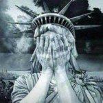 Huilend vrijheidsbeeld